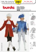 2461 Burda Pattern: Boys' Prince and Mozart Costumes